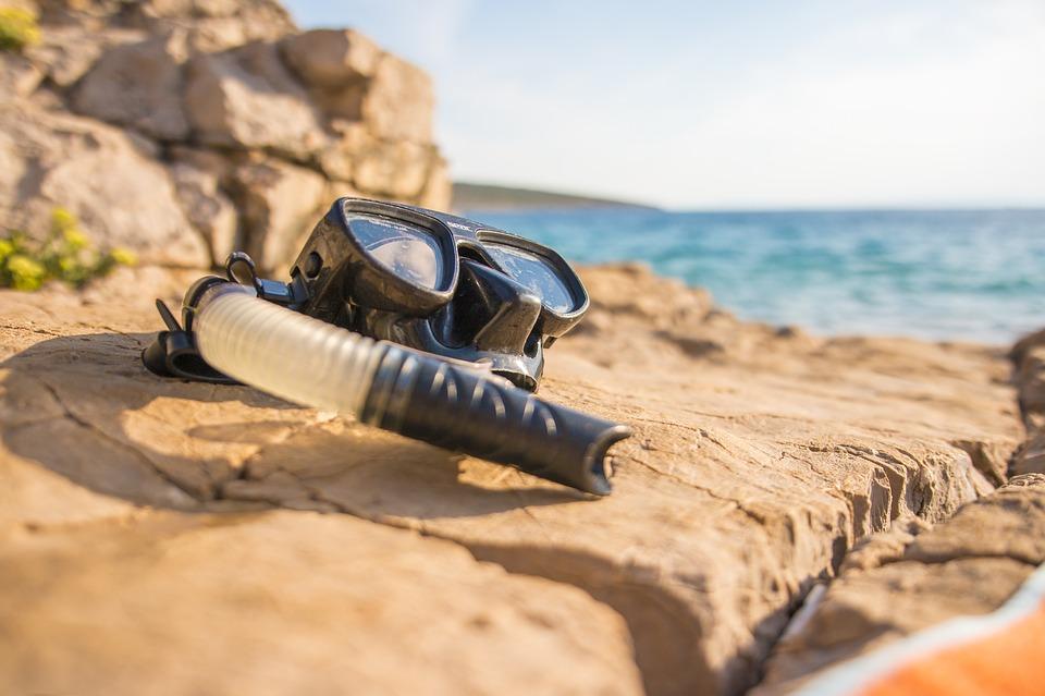 Snorkelen aan het strand