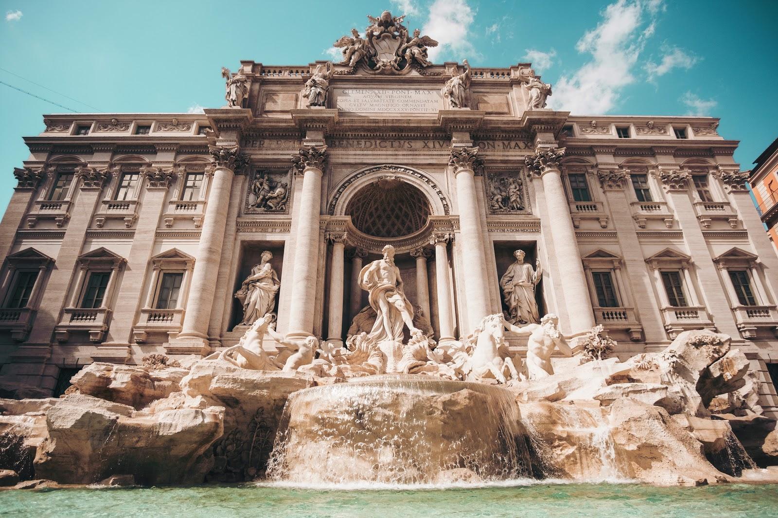 Trevi fontein - Rome in het voorjaar